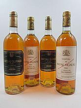 4 bouteilles 2 bts : CHÂTEAU DE RAYNE VIGNEAU 1982 1er Cru Sauternes