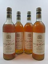 4 bouteilles CHÂTEAU DE RAYNE VIGNEAU 1975 1er Cru Sauternes (3 base et 1 basse épaule