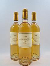 3 bouteilles CHÂTEAU D'YQUEM 2003 1er Cru Supérieur Sauternes