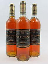 6 bouteilles CHÂTEAU GUIRAUD 1979 1er Cru Sauternes (base goulot)