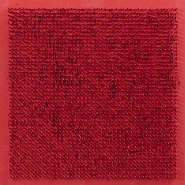 ¤ Bernard AUBERTIN (1934 - 2015) TABLEAU CLOUS N°318 - 1969 Clous et panneau peints