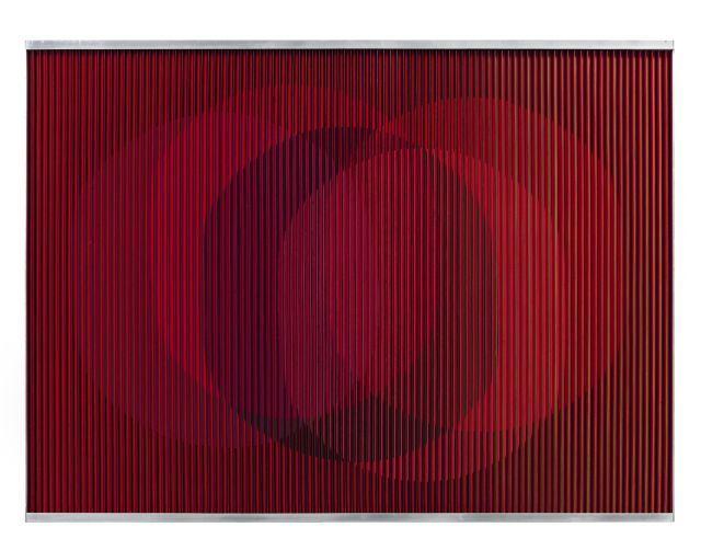 Carlos CRUZ-DIEZ (Né en 1923) PHYSICHROMIE 355 - 1967 Acrylique et plastique sur bois dans cadre en aluminium