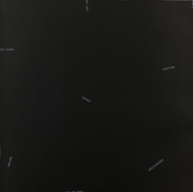 Robert BARRY (Né en 1936) SANS TITRE - 1990 Acrylique sur papier