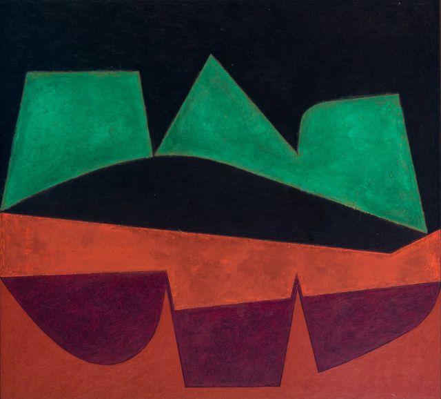Victor VASARELY (1906 - 1997) AIALA - 1950 Huile sur panneau