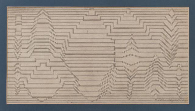 Victor VASARELY (1906 - 1997) SANS TITRE (NAISSANCE III) - 1952 Crayon sur papier