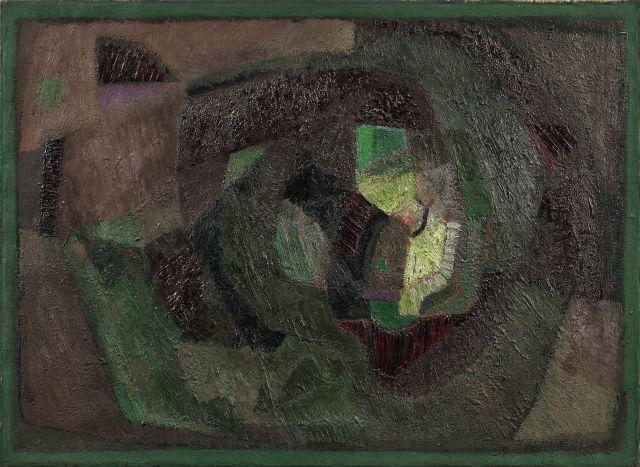 ¤ Victor VASARELY (1906 - 1997) SANS TITRE - 1947 Huile sur toile