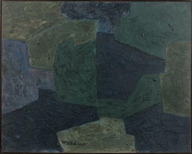 Serge POLIAKOFF (1900 - 1969) COMPOSITION ABSTRAITE - 1966 Huile sur toile