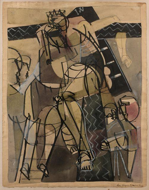 Romare BEARDEN (1911 - 1988) SANS TITRE - Circa 1946 Aquarelle et gouache sur papier