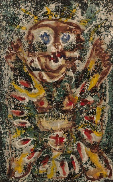 Alfonso OSSORIO (1916 - 1990) SANS TITRE - Circa 1950 Technique mixte sur papier