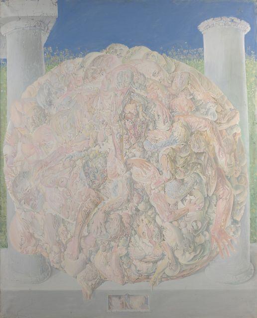 DADO (1933 - 2010) SANS TITRE - 1965 Huile sur toile