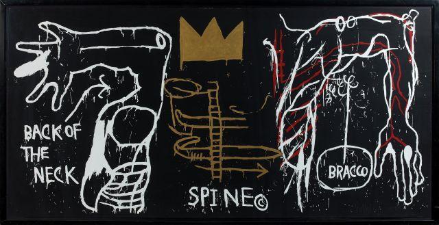 Jean-Michel BASQUIAT (Américain - 1960 - 1988) BACK OF THE NECK - 1983 Sérigraphie en couleurs avec rehauts sur papier Stonehenge