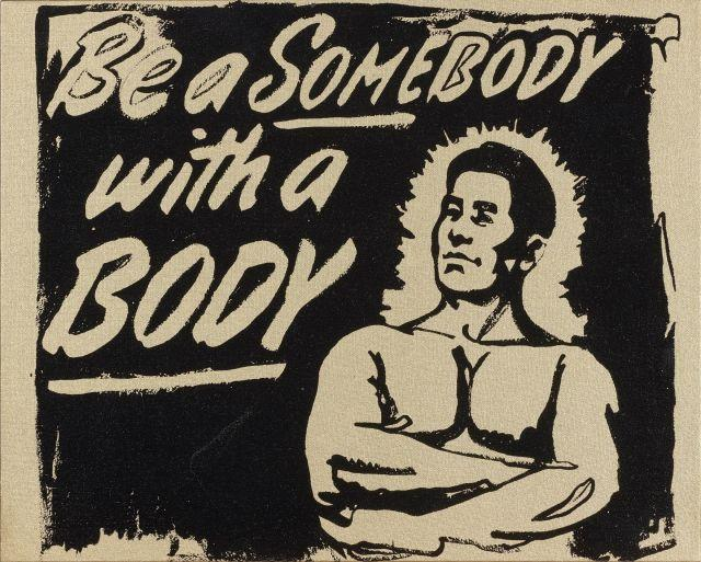 Andy WARHOL (1928 - 1987) BE A SOMEBODY WITH A BODY - 1985 Sérigraphie et acrylique sur toile
