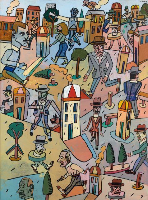 Antonio SEGUI (Né en 1934) RECUERDOS DE PROVINCIA - 1985 Acrylique sur toile