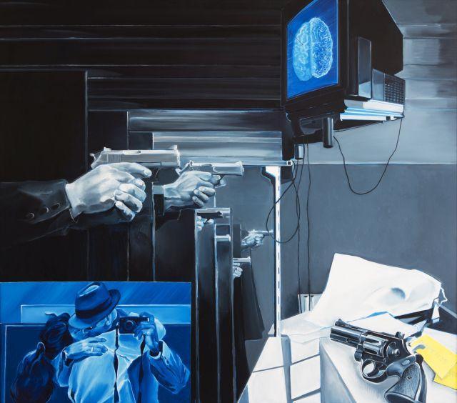 ¤ Jacques MONORY (Né en 1924) ENIGME N°25 - 1996 Huile sur toile