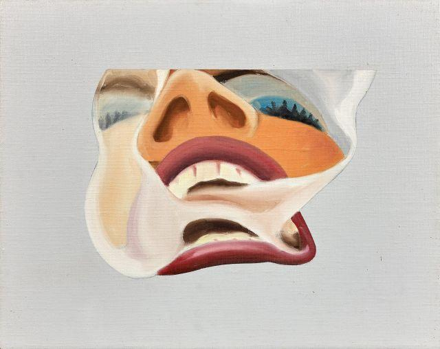 Tom WESSELMANN (1931 - 2004) SMOKER STUDY - 1977 Huile sur toile