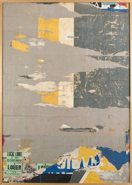 Jacques VILLEGLE (Né en 1926) 112 RUE DU TEMPLE, AOÛT 1969 - 1969 Affiches lacérées marouflées sur toile