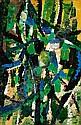 Oscar GAUTHIER (né en 1921) COMPOSITION, 1951 Huile sur papier marouflé sur panneau, Oscar Gauthier, Click for value
