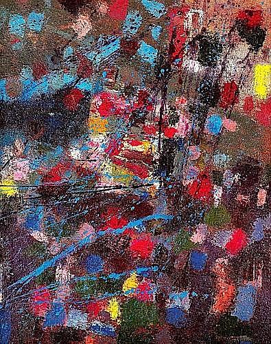 Camille BRYEN (1907-1977) NUMERO 139, septembre 1956 Huile sur toile
