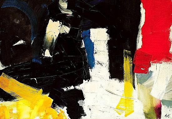 Jean MIOTTE (né en 1926) ICONOCLASTE, circa 1958 Huile sur toile