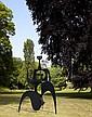Philippe HIQUILY (1925 - 2013) MARATHONIENNE, 2004 Sculpture en acier découpé et soudé 15 mm, peinture noire