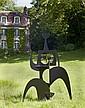 Philippe HIQUILY (1925 - 2013) MARATHONIENNE, 2004 Sculpture en acier découpé et soudé, peinture noir brillante