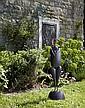 Philippe HIQUILY (1925 - 2013) LA COQUETTE, 2001 Sculpture en fer et cheveux en cuivre