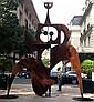 Philippe HIQUILY (1925 - 2013) MARATHONIENNE, 2004 Sculpture en acier corten 20 mm
