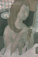 Maurice DENIS 1870 - 1943 Jeune fille à sa toilette - 1895 Huile sur toile