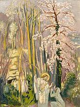 Maurice DENIS 1870 - 1943 Matin de Pâques, aux grands arbres - Circa 1928 Huile sur panneau