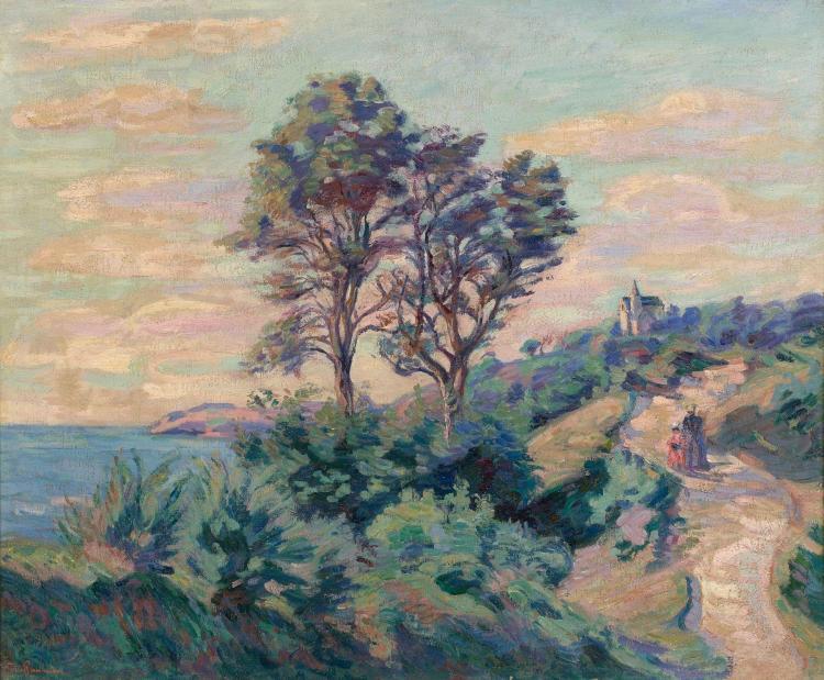 Armand GUILLAUMIN 1841 - 1927 Saint-Palais sur mer - Circa 1893 Huile sur toile