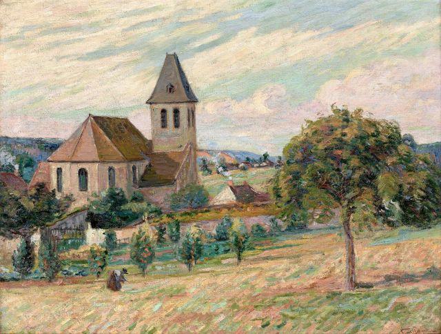 Armand GUILLAUMIN 1841 - 1927 Paysage d''Ile-de-France- Circa 1890 Huile sur toile