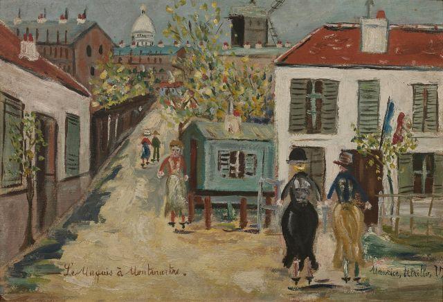 ¤ Maurice UTRILLO 1883 - 1955 Le maquis à Montmartre - Circa 1938-1940 Huile sur carton