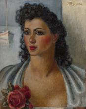 Jean METZINGER 1883 - 1956 Portrait de Rosa Rachi - Circa 1940 Huile sur panneau