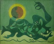 Georges PAPAZOFF 1894 -1 972 Fantômes marins - 1966 Huile sur toile