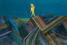 Georges PAPAZOFF 1894 - 1972 Le messie (Il arrive) - 1957 Huile sur toile