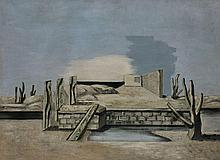 Jean LURCAT 1892 - 1966 Aridité ou la petite fenêtre - 1930 Huile sur toile