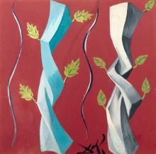 Salvador DALI 1904 - 1989 Les stores vénitiens - 1957 Gouache sur carton