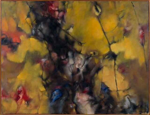 Dorothea TANNING 1910 - 2012 Visite jaune (Visite éclair) - 1960 Huile sur toile