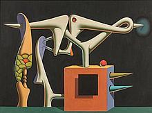 Ivan TOVAR Né en 1942 Chant d''amour - 1977 Huile sur toile