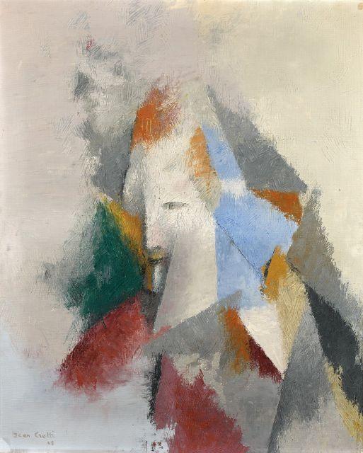 Jean CROTTI 1878 - 1958 Développement dans l''espace - 1948 Huile sur toile