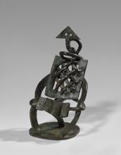 Jacques LIPCHITZ 1891 - 1973 Arlequin à l''accordéon - 1926 Bronze à patine verte