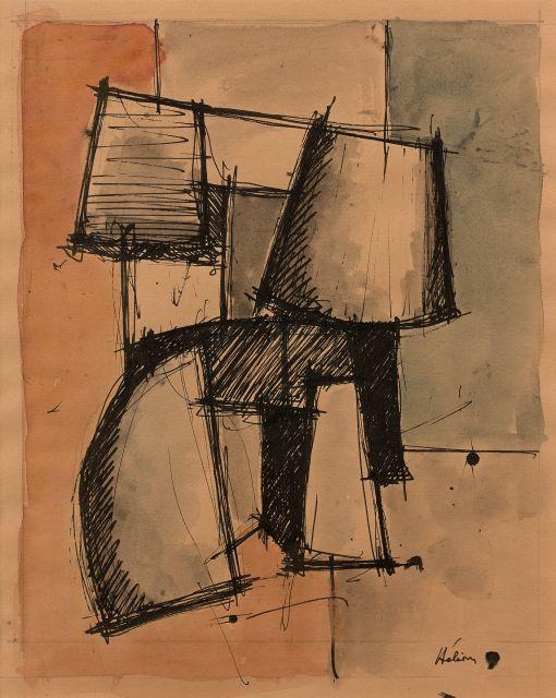 Jean HELION 1904 - 1987 Sans titre - Circa 1935 Aquarelle et encre sur papier
