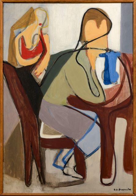 Eugène de KERMADEC 1899 -1976 L''enfant au vase bleu - 1933 Huile sur toile