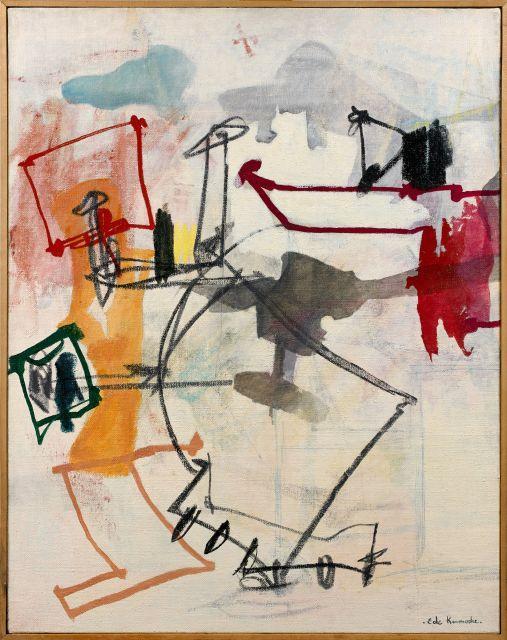 Eugène de KERMADEC 1899 - 1976 Linéairement sugéré - 1972 Huile sur toile