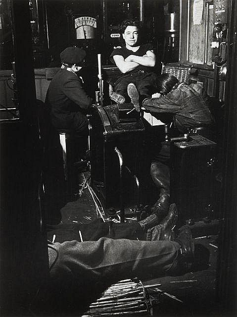 Willy RONIS (1910 - 2009) Grève des mineurs - Saint Etienne,1948 Epreuve argentique (c. 1990)