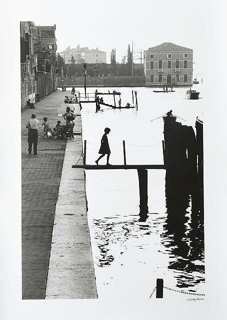 Willy RONIS (1910 - 2009) Fondamenta nuove - Venise, 1959 Épreuve argentique signée à l''encre dans la marge inférieure à droite