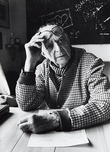 Willy RONIS (1910 - 2009) Brassaï chez lui - 1980 Epreuve argentique d''époque