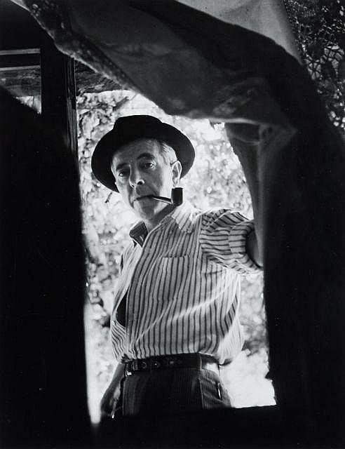 Willy RONIS (1910 - 2009) Jacques Prévert - Tourettes-sur-Loup, 1941 Epreuve argentique (1985)