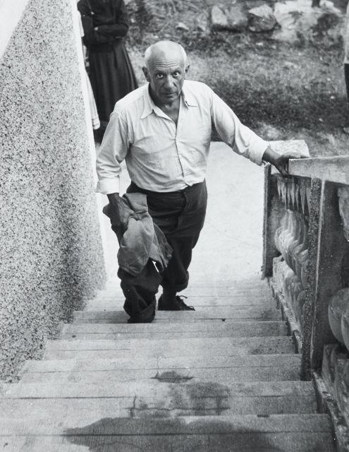 Willy RONIS (1910 - 2009) Pablo Picasso - Vallauris, 1950 Epreuve argentique (1985)