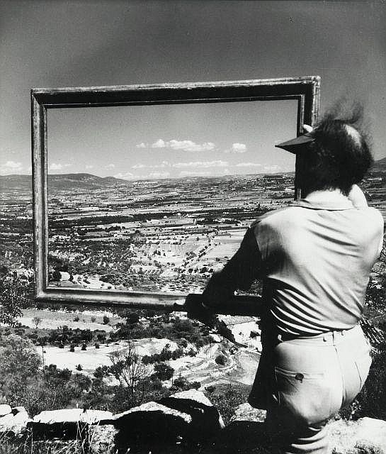 Willy RONIS (1910 - 2009) Le peintre André Lhote - Gordes, 1947 Epreuve argentique (c. 1960)